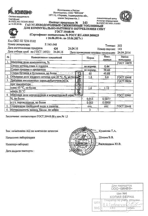Доставка газа в Санкт-Петербурге и Ленинградской области